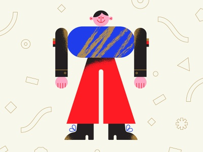 🔵🔺 wooden toy toy character character design geometry minimal geometric