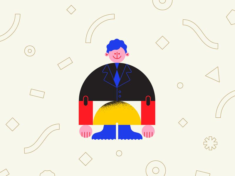 ⚫🔴💛🔵 texture pattern vector character character design geometry minimal geometric