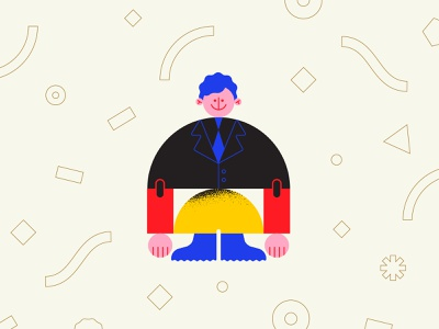 ⚫🔴💛🔵 texture pattern vector character character design geometry minimal geometric