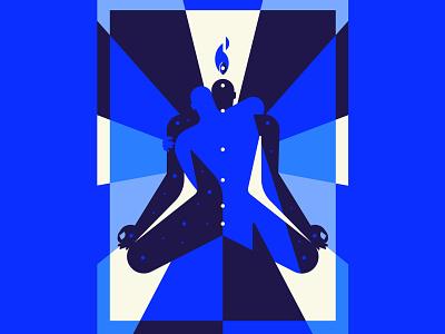 🧘🏻♀️🌌👁️🌀 fear inoculum toolband tool hugh universe cosmos third eye chakras mindfulness meditation character vector character design geometry minimal geometric