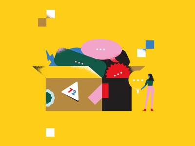 📰 box illustration character character design geometry minimal geometric