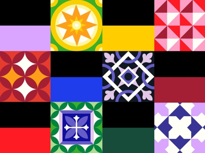 ♾ barcelona tiles baldosas hydraulictiles hydraulic illustration geometry minimal geometric