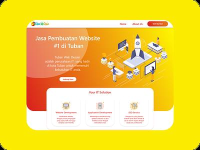 Tuban Web Desain Landing Page Redesign concept design xd ui kit xddailychallenge web design web app ui  ux design ui design uidesign uiux adobexd xd design ui kit xd illustration adobe xd website ui ux web design
