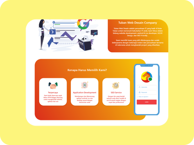 Tuban Web Desain - Web Service Landing Page Redesign web apps web app design webdesign website design ui kit ui kits ui kit design web design uiux ui design uidesign illustration adobe xd website web ux ui design