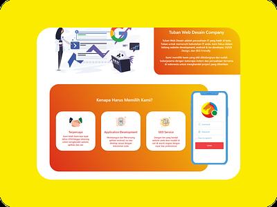 Tuban Web Desain - Web Service Landing Page Redesign web apps web app design webdesign website design ui kit ui kits ui kit design web design uiux ui design uidesign illustration adobe xd website web ux ui design