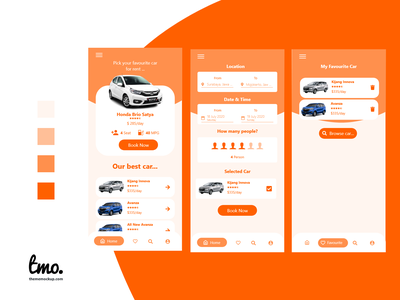 Car Rental App Design ui kit ux app design xd ui kit xd ui design xd design adobe xd ui uidesign