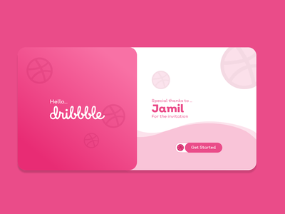 Thank You Dribbble branding app design xd ui kit uidesign web design ux uiux xd design adobe xd ui design