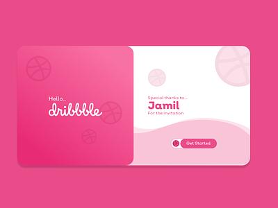 Thank You Dribbble branding app design xd ui kit uidesign web design ux uiux xd design adobe xd ui design