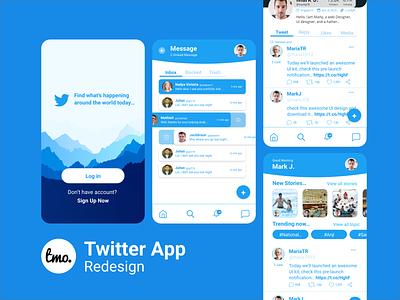 Twitter App Redesign Concept design xd uiux ui kit app design xd ui kit xd design adobe xd ui design uidesign