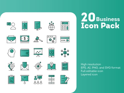 Business Icon Pack design icon icon design iconography icons branding
