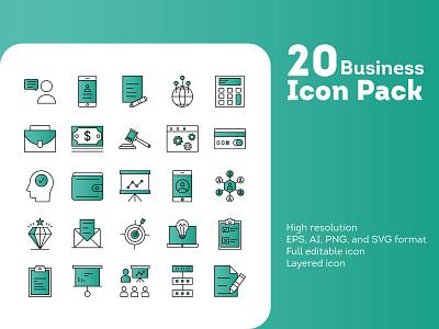 Business Icon Pack design icon icon design iconography icons branding