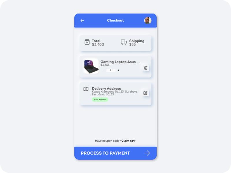 Neumorphism Checkout Page ux web design ui uiux ui kit app design ui design uidesign