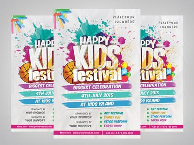 Kids Festival Flyer Template