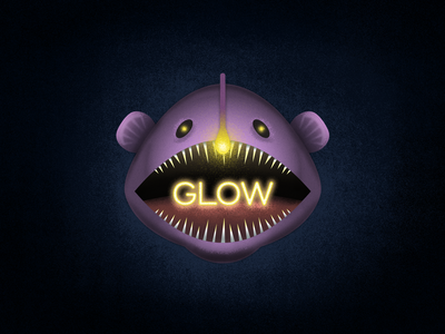 Glowing Angler illustration design digital art
