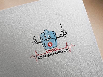 Logo Dr. Holodilnikov illustration design branding vector logotype logodesign logo creation logo adobe photoshop adobe illustrator