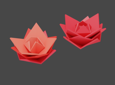 Low Poly Roses