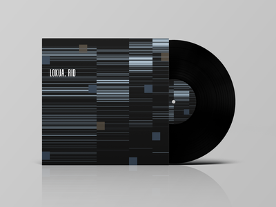 Lokua. Rid concept print design techno abstract design vinyl music print typography