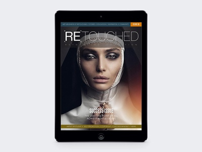 RETOUCHED magazine ui editorial magazine title typography digital ipad retouch retouched