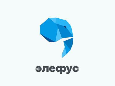 elephus  animal poligonal typography vectorlogo vector identity brand branding logotype logo