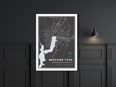poster urban geography map city print poster