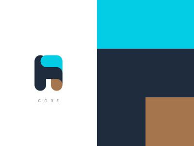 H1 core digital vector branding logo design