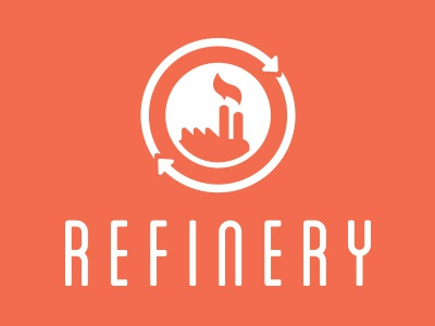 Refinery Logo refinery factory circle logo