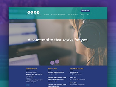 Audio Publisher's Website cms craft publisher publishing audio ui ux sketch