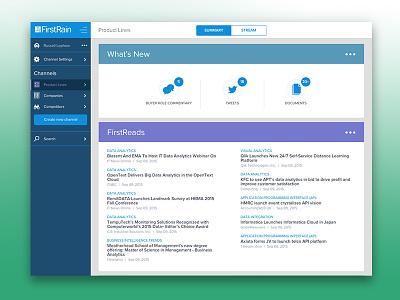 FirstRain Desktop firstrain competitors summary dashboard ux ui photoshop