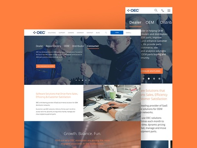 OEConnection Marketing Site cms craft cms craft sketch app sketch responsive marketing oe auto parts automotive auto
