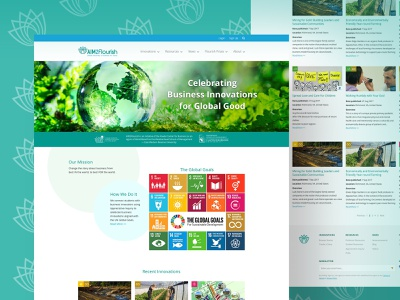 Aim2Flourish website un united nations global sustainability case western education website sketch
