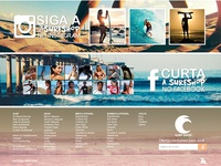 Surf Shop - Social and Footer