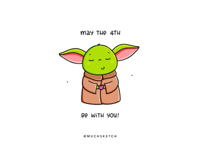 Baby Yoda 💚😇 may the fourth may the force be with you star wars day star wars art maythe4th maythe4thbewithyou maythefourth may the 4th character characterdesign star wars starwars mandalorian the child baby yoda yoda character design procreate illustrator illustration