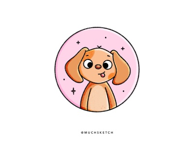 Puppy 🐶 dog mom pets best friend graphic baby animals cute animal animal illustration affinity designer adorable stickers flat illustration illustrator procreate character design drawing kawaii dog lover dog puppy