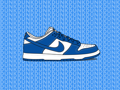 Nike SB Dunk low illustration sneaker illustration sneaker art syracuse brazil kentucky nike dunk nike illustration typography line art design vector adobe illustrator