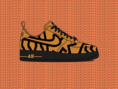 alondra delincuencia Mismo  Karabo Poppy x Nike Air Force 1 illustration by Byron Sweetman on Dribbble