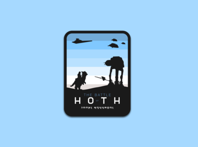 The Battle of Hoth - A Star Wars badge