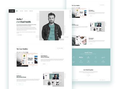Personal Portfolio Template resums portfolio web design ui webdesign personal