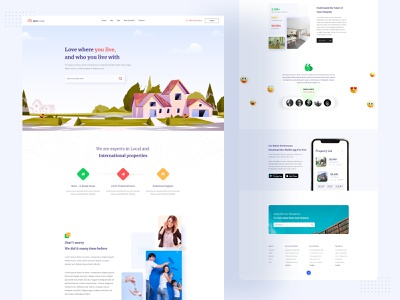 Real Estate Landing page web design ui agency landingpage real estate agency real estate agent digital agency minimal buy house rent house home sale landing page ui webdesign landing page real estate