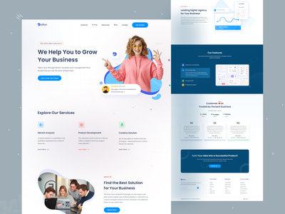 Digital Agency Landing Page creative minimal uiux dailyuichallenge market analysis product development webdesign dailyui marketing agency marketing seo digital agency landing page digital agency landingpage