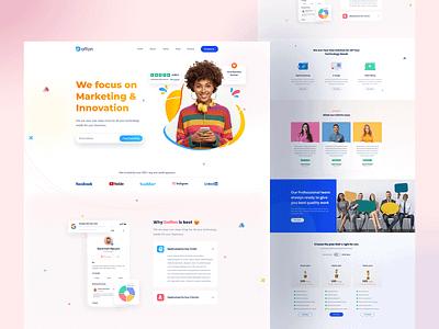 StartUp Agency Landing Page webdesign minimal web design daily challenge marketing agency creative ux ui landingpage startup digital agency