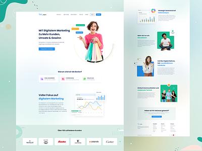 Marketing Agency Landing Page digital agency startup creative uiux agency landing page agency webdesign ui landing page marketing agency