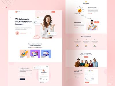 Digital Agency Landing Page seo marketing agency marketing ux digital agency landing page digital agency ui desing landing page ui