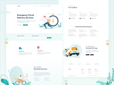 Parcel Delivery Landing Page.
