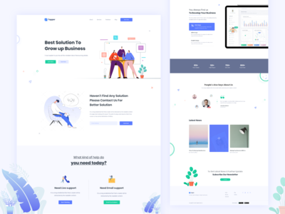 Digital Agency Landing Page / Business Support