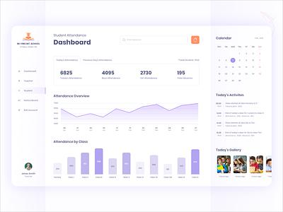 Student Attendance Dashboard minimal dashboard web design