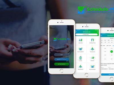 Service Booking App Development - Schedule Me ux ui app design apps app developer appdevelopment mobile app booking app mobileappdevelopment mobileapp appdevelopers app