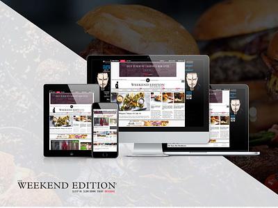 The Weekend Edition - News Website Development website ux ui web designer web developer web design news site newsfeed web development newspaper news website development news website