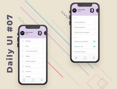 Daily UI #07 Settings design app ux ui