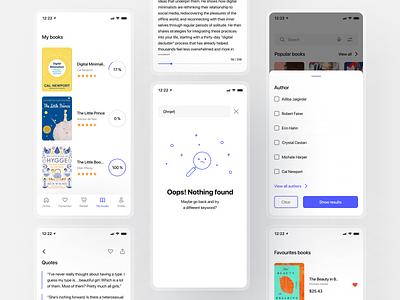 Book Store App ui ux mobile app mobile ios app ios design app store app design app