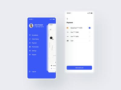 Taxi App menu mobile minimal ux ui taxi app design ios app mobile app app design app